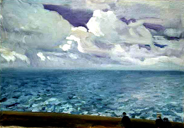 Breakwater, San Sebastian, oil on canvas, Joaquín Sorolla (Image courtesy of Museo Sorolla)