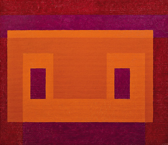 Variant, Orange Front, oil on masonite, 1948-58, Josef Albers (image courtesy of Josef and Anni Albers Foundation)