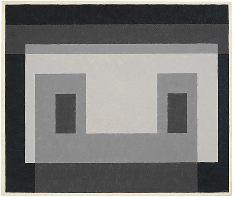 Grey Facade, oil on masonite, 1947-54, Josef Albers (image courtesy of the Josef and Anni Albers Foundation)