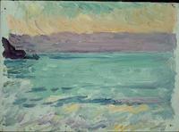 Isorllla Sea Study, oil, Joaquín Sorolla,  (Image courtesy of Museo Sorolla)