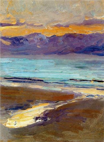 Beach Study, 1906, oil on cardboard,  Joaquín Sorolla,  (Image courtesy of Museo Sorolla)