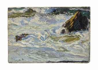 Wave Study, oil, Joaquín Sorolla,  (Image courtesy of Museo Sorolla)
