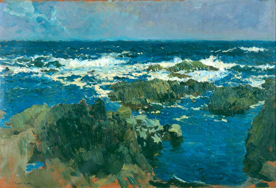 Rocas de San Esteban, Asturias, 1903, oil on canvas, Joaquí Sorolla (Image courtesy of Museo Sorolla)
