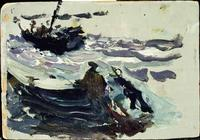 Beach Study, oil, Joaquín Sorolla (image courtesy of Museo Sorolla)