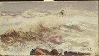 Sea Study, oil,  Joaquín Sorolla,  (Image courtesy of Museo Sorolla)