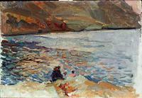 Javea, Study, oil, Joaquí Sorolla (image courtesy of Museo Sorolla)