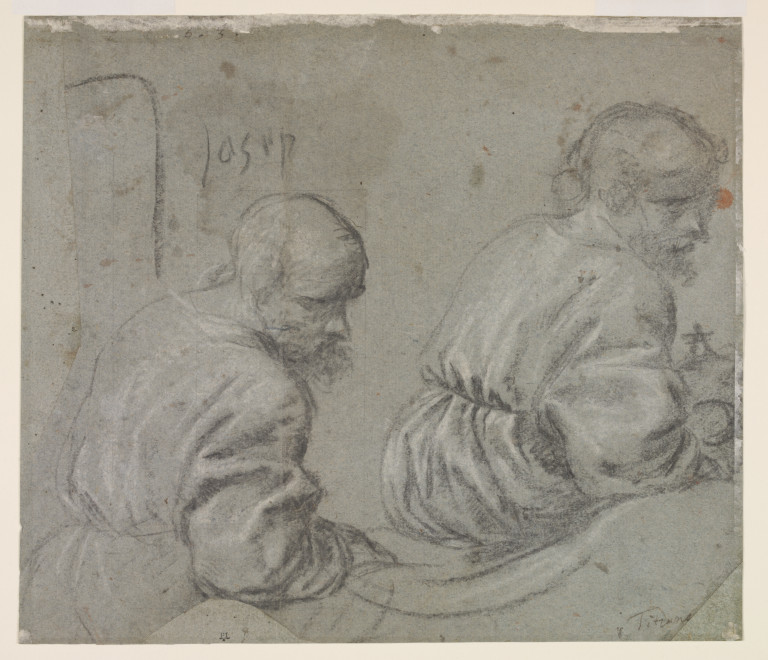 Study, black chalk on tinted paper, 1515-1516, Titian (image courtesy of Asmolean Museum, Oxford)