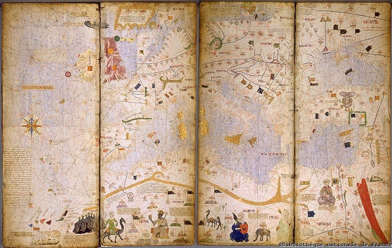 Catalan Atlas, 1375, Abraham and Jehuda Cresques, (Image courtesy of Bibliothèque Nationale de France)
