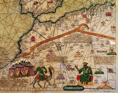 Detail, Catalan Atlas, 1375  (Image courtesy of Bibliothèque Nationale de France)