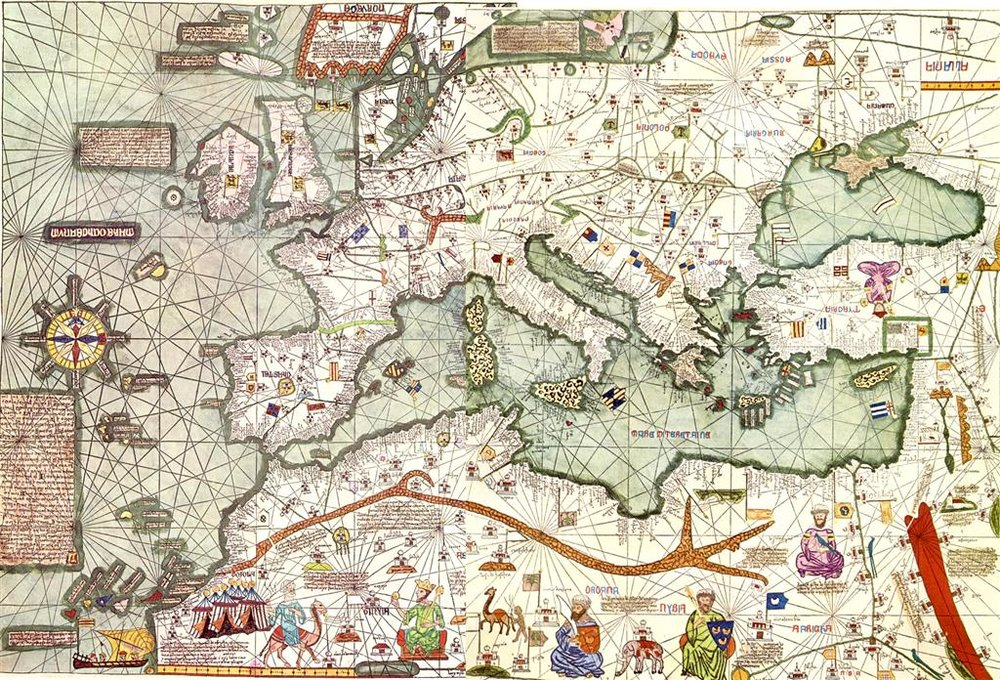 Europe -Mediterranean portion, Catalan Atlas