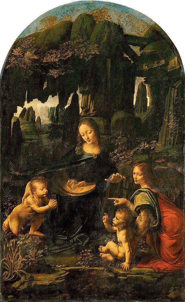 Virgin of the Rocks, 1483-1486, Leonardo_da_Vinci_- (Image courtesy of the Louvre)