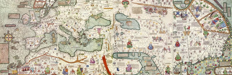1389 Mappamundi, Jehuda Cresques, comissioned by Juan I of Aragon