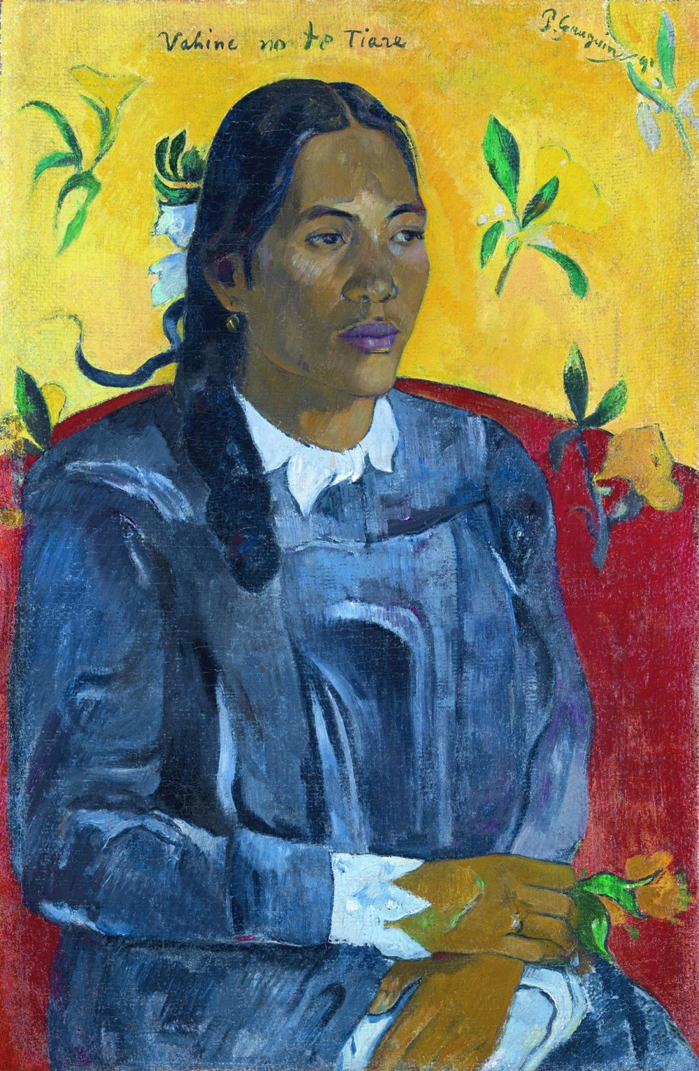 Tahitian Woman with a Flower, Paul Gauguin, 1891 (Image courtesy of NY Carlsberg Glyptotek)