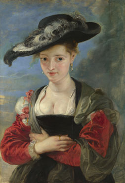 Portrait of Susanna Lunden(?) ('Le Chapeau de Paille') probably 1622-5, Peter Paul Rubens, (Image courtesy of the National Gallery, London)