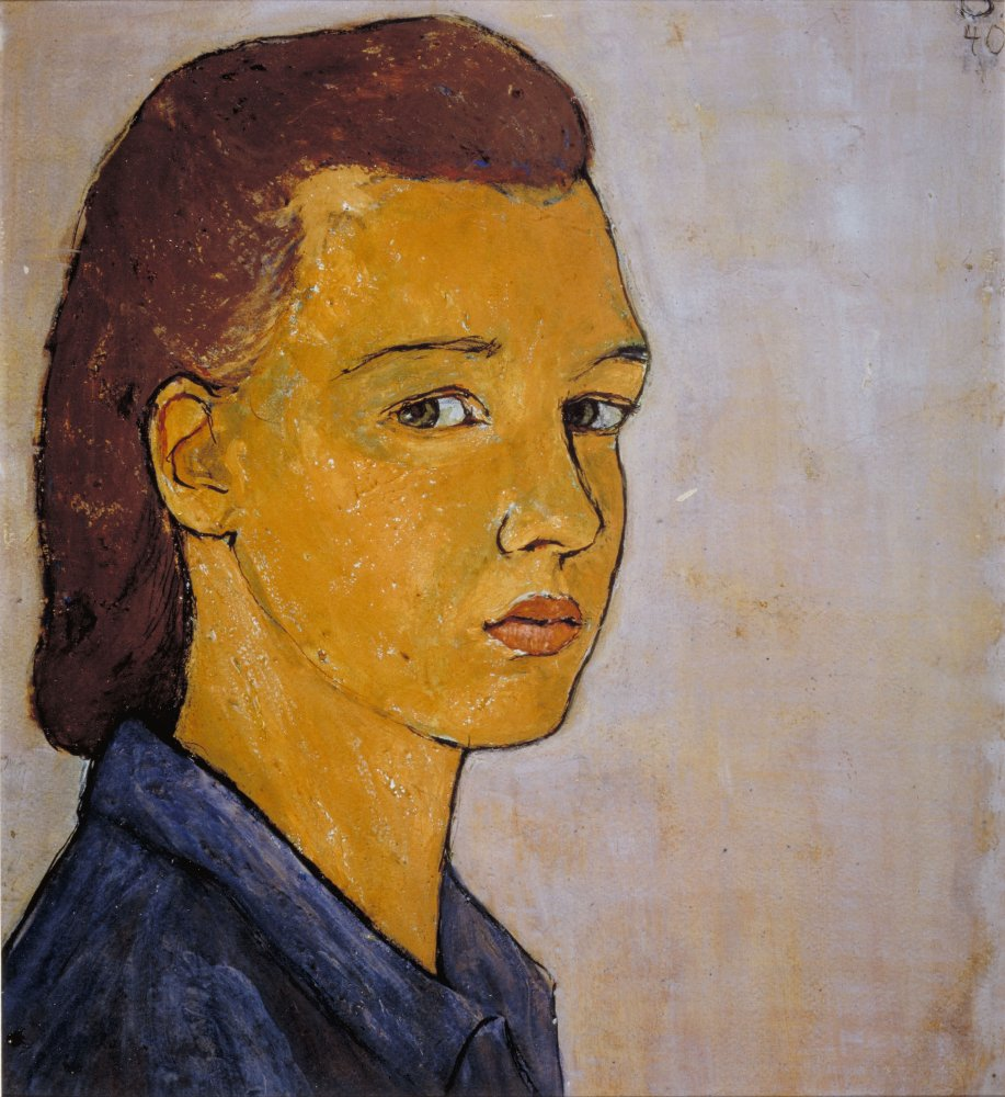 Self-Portrait, Charlotte Salomon, gouache, (image courtesy of the Charlotte Salomon Foundation, National Jewish Museum, Amsterdam)