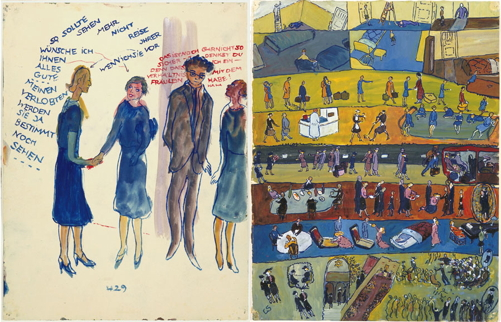 Life? or Theatre?, Charlotte Salomon, gouache, (image courtesy of the Charlotte Salomon Foundation, National Jewish Museum, Amsterdam)