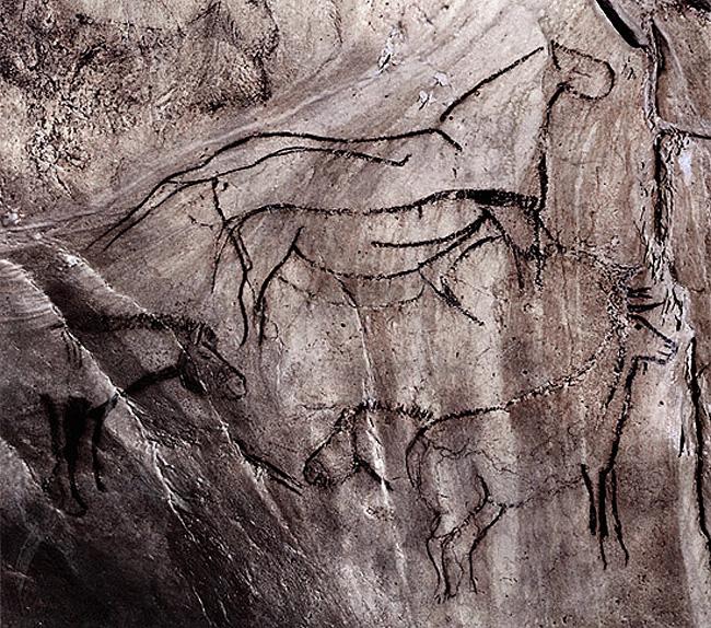 Grotte de Niaux, Salon Noir, horses