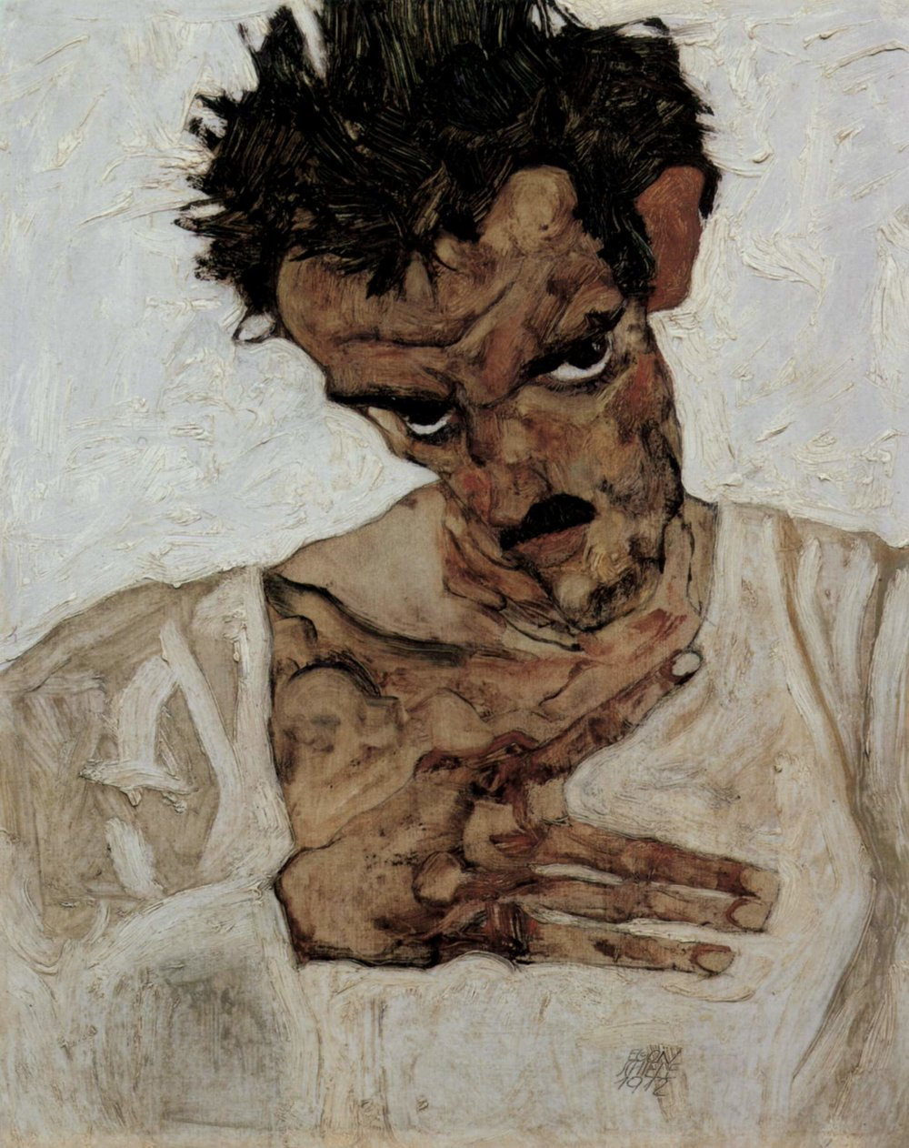 Self-Portrait, Egon Schiele, 1912 (Image courtesy of Leopold Museum)