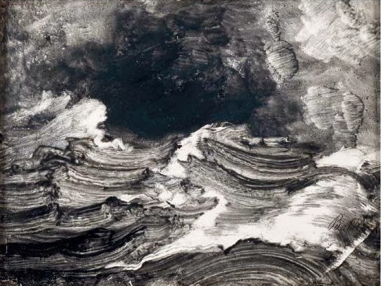 Stormy Sea, oil on cardboard, Peder Balke (Image courtesy of Drammens Museum)