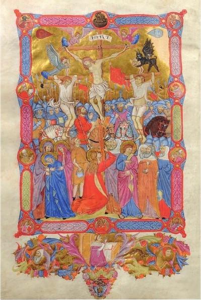 Missal written by Johannes de Berlandia, c. 1400, Lombardy, parchment, Hart Collection, Blackburn Museum