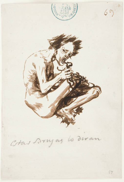 Estas Brujas lo diran, Francisco Goya, brush & brown ink, (image courtesy of Prado Museum, Madrid)