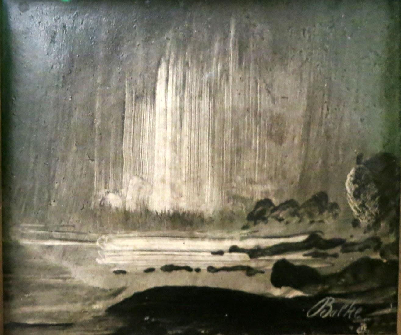 Norther Lights over Coastal Landscape, c. 1870, oil on panel, Peder Balke