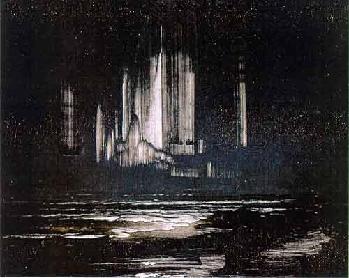 Northern Lights, 1870s, Peder Balke