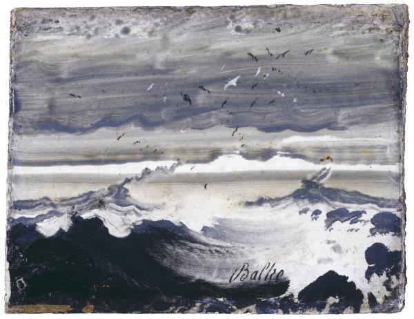 Stormy Sea, oil on panel, Peder Balke