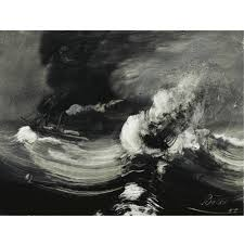 The Tempest, oil on panel, Peder Balke