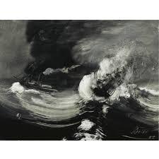 The Tempest, oil on panel, Peder Balke