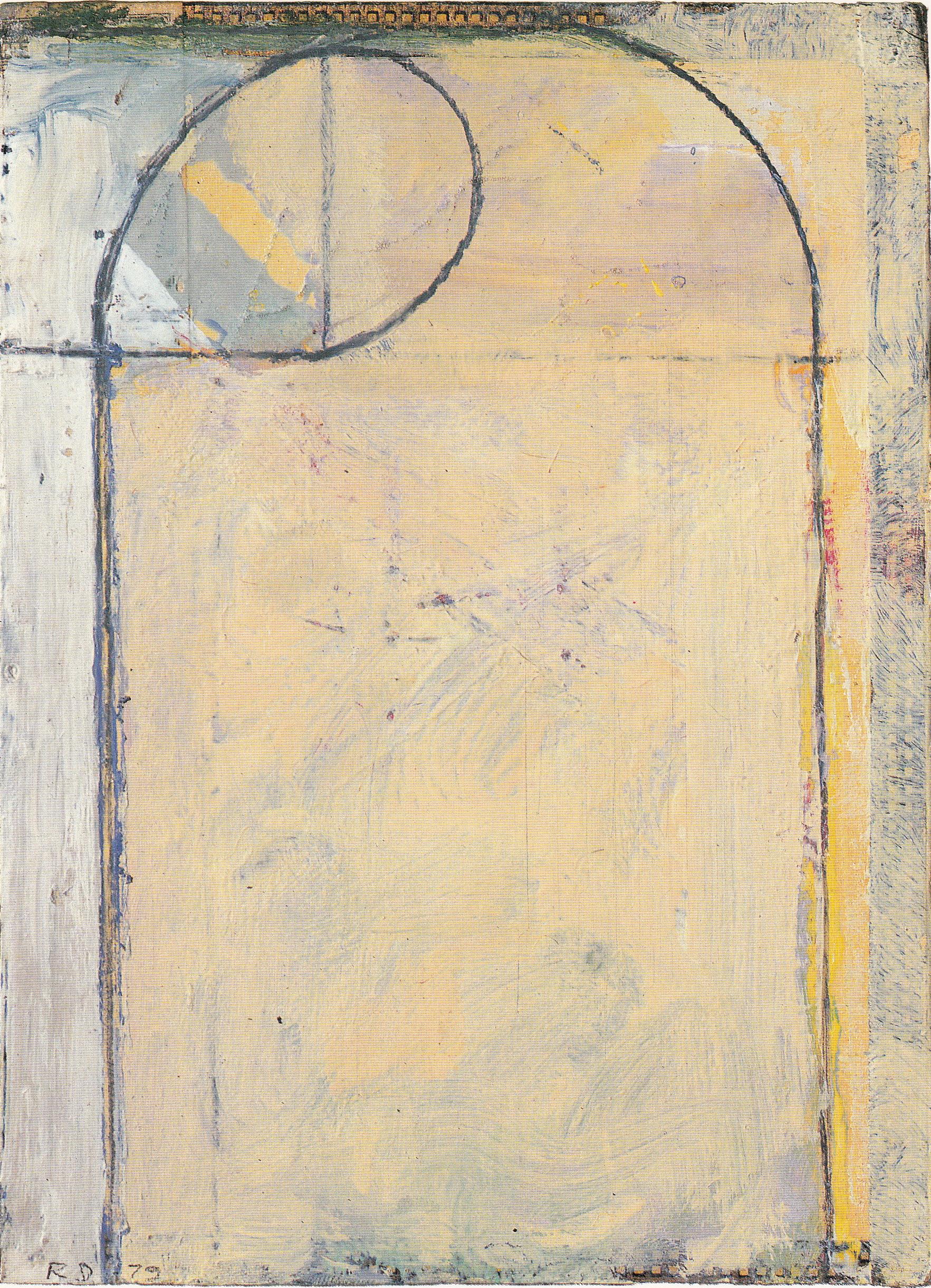 Richard Diebenkorn, Cigar Box Lid #6, oil on wood, 1979