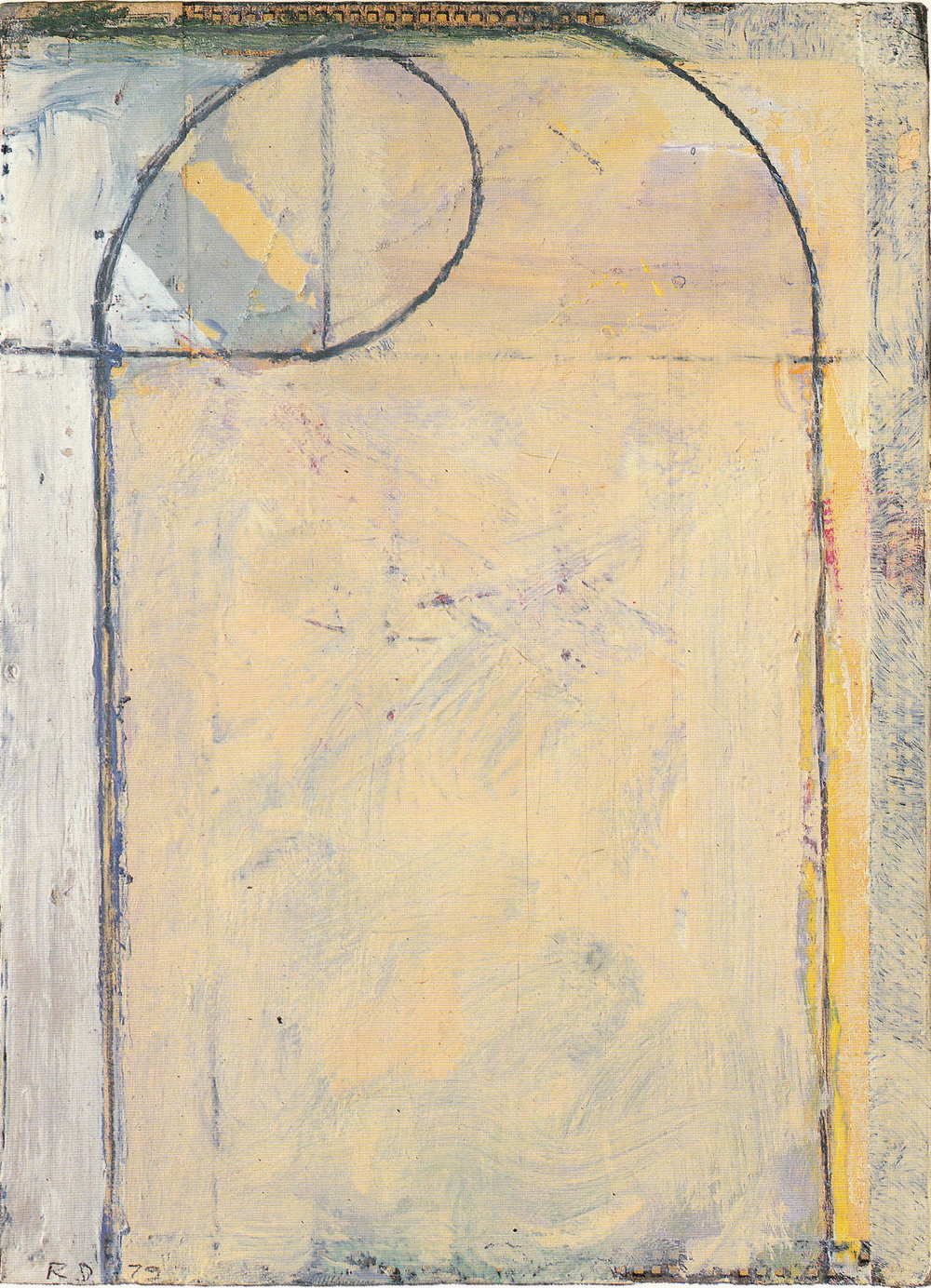 Richard Diebenkorn, Cigar Box Lid #6, oil on wood, 1979