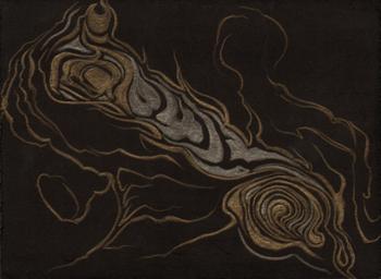 Live Oak Lines, gold-silverpoint, Jeannine Cook artist
