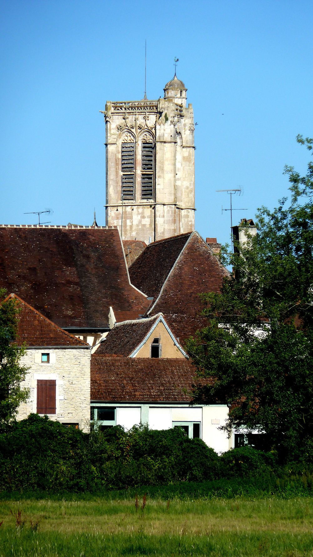 The 15th century church, Noyers, photo J. Cook