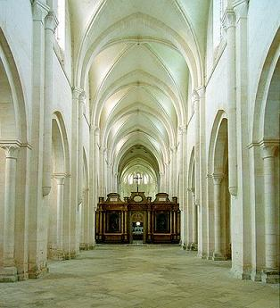 Interior of Pontigny Abbey