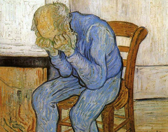 Eternity's Gate,1890, Vincent Van Gogh (painted during a time of great stress)