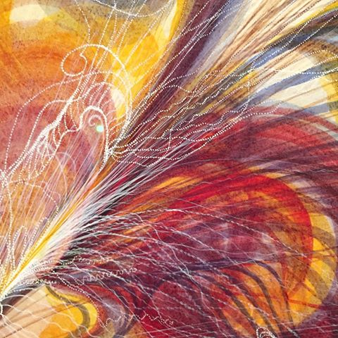 Detail of The Eye of God Georgiana Houghton watercolour-gouache Image courtesy of Victoria Spiritualists' Union Melbourne Australia