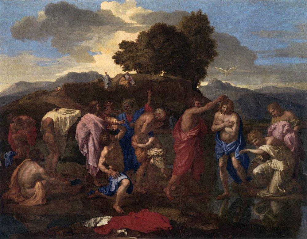 Baptism, Nicolas Poussin, 1641-42, Image courtesy of National Gallery, Washington)