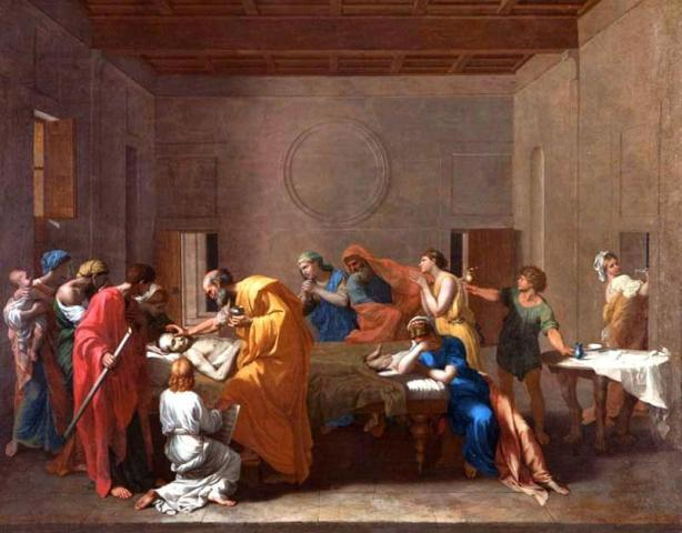 Extreme Unction, 1638-40, Nicolas Poussin (Image courtesy of the Fitzwilliam Museum, Cambridge)