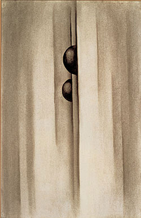 Georgia O'Keeffe (1887-1986), No. 17 - Special, 1919. Charcoal on laid paper, 19-3/4 x 12-3/4 inches. Courtesy of the Georgia O'Keeffe Museum, Santa Fe; gift of The Burnett Foundation and The Georgia O'Keeffe Foundation.