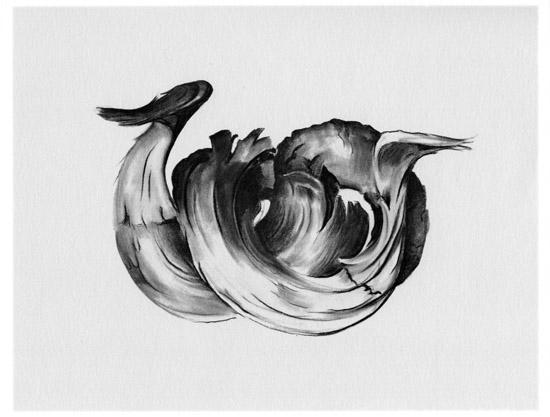 Ram's Horns II, 1949, charcoal, Georgia O'Keeffe