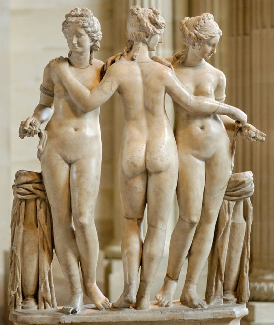 The Three Graces, 2nd century AD, Rome, marble (Image courtesy of the Louvre)