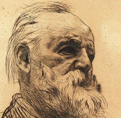 Victor Hugo, drawn by Rodin