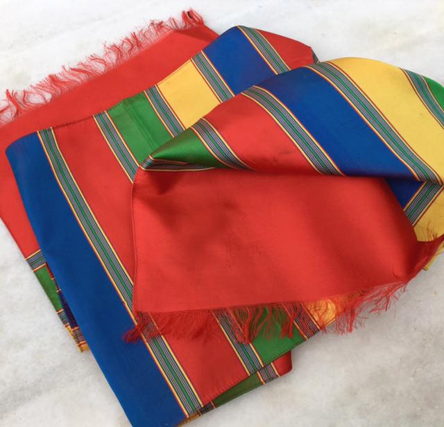 Venetian silk scarf (photograph J. Cook)