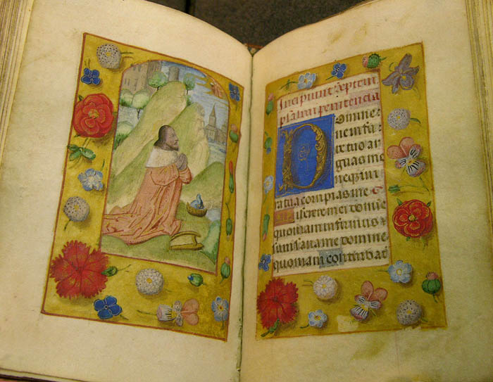 Book of Hours, 15th century, (Image courtesy of Raner Library, Dartmouth College)