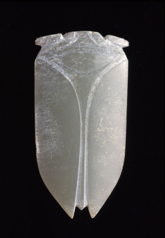 Cicada. Han dynasty (206 B.C.E.–220 C.E.). China. Nephrite. (Courtesy of the Asian Art Museum, The Avery Brundage Collection)