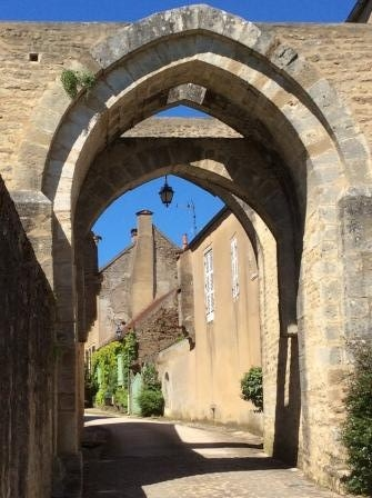 Entrance to the medieval village of Montreal, Yonne, France (J. Cook photo)