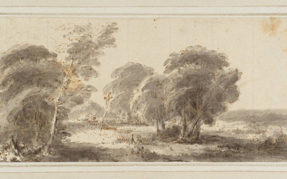 Road Scene with Crucifix in Middle Distance null Heneage Finch, Fourth Earl of Aylesford 1751-1812 Purchased as part of the Oppé Collection with assistance from the National Lottery through the Heritage Lottery Fund 1996 http://www.tate.org.uk/art/work/T09837