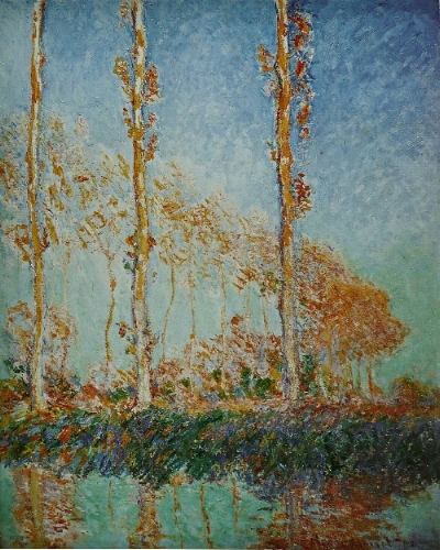 Les Peupliers (Automne), 1891, oil on canvas, Claude Monet (Image courtesy of the Philadelphia Museum of Art)