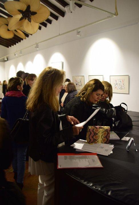 "Opening Night - ""Pensando en Miró: Drawings in Silver"", Sa Tafona Gallery (Image courtesy of Martin Adam, photographer)"